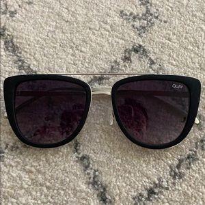 QUAY black and silver sunglasses